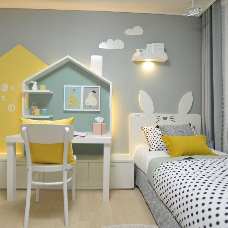 Quarto infantil cinza e amarelo 12 ideias para se - Dormitorios infantiles originales ...