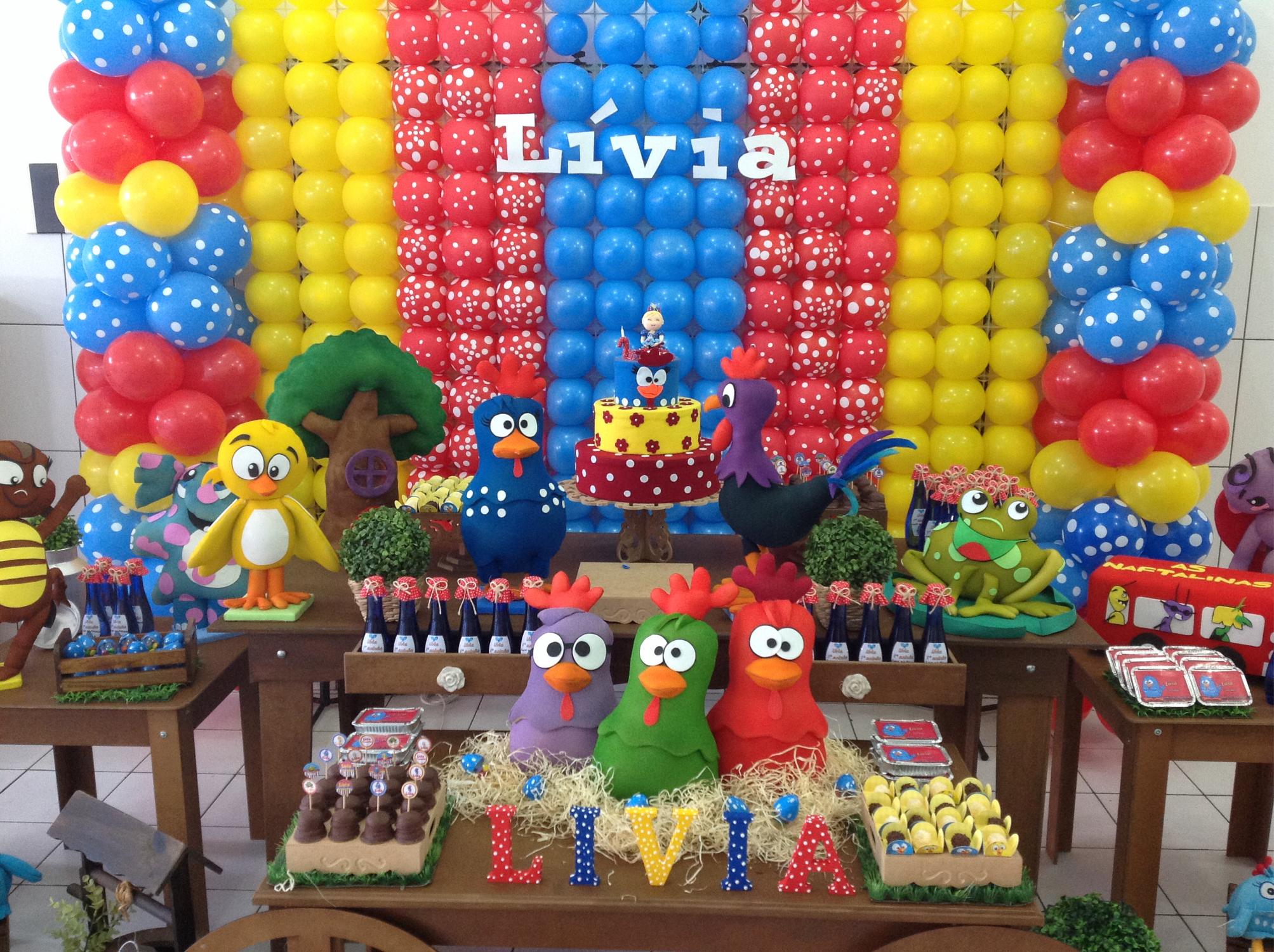 Festa Galinha Pintadinha Baú de Menino # Decoração Festa Infantil Galinha Pintadinha Simples