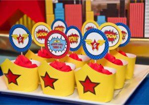 cupcake festa mulher maravilha
