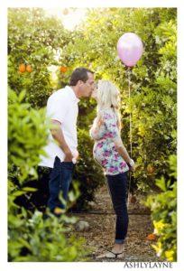foto para revelar sexo do bebê com balão