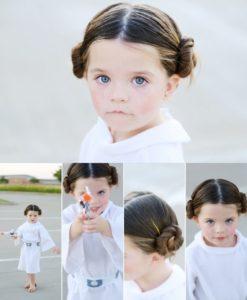 penteado princesa Leia
