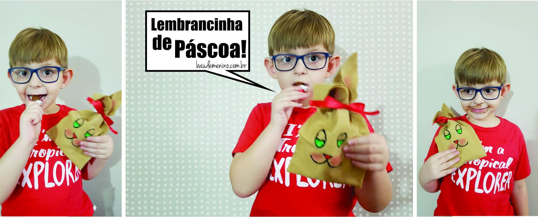 Saquinho Coelho Lembrancinha de Páscoa